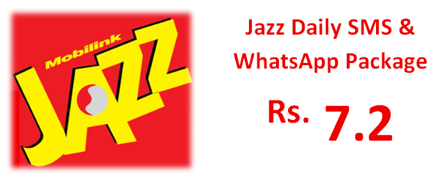Jazz Daily SMS + WhatsApp Package Activation Code