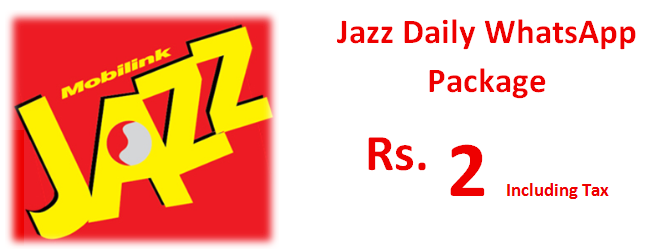Jazz Daily WhatsApp Package Activation Code